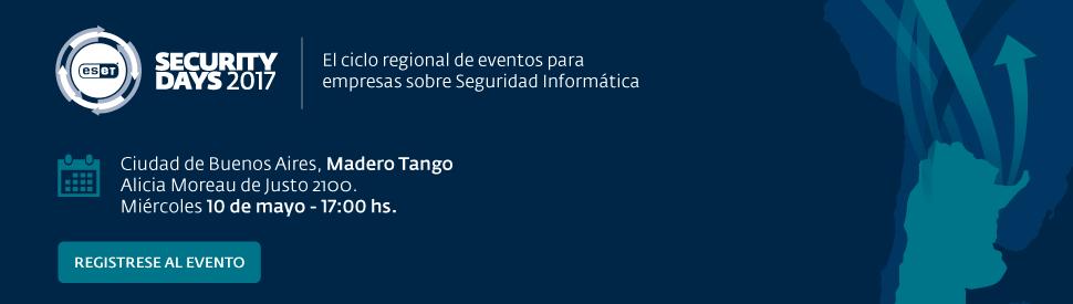 Eset Security Day - Miércoles 10 de mayo, Buenos Aires, Argentina