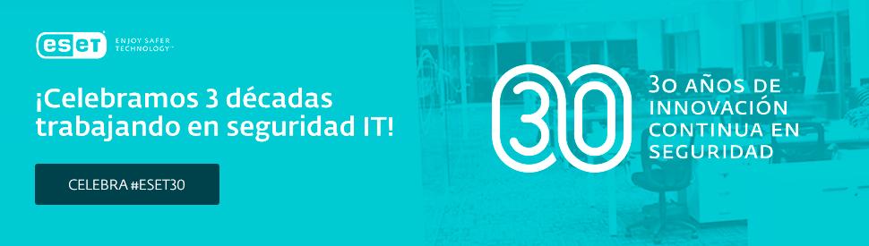 Celebramos 3 décadas trabajando en seguridad IT