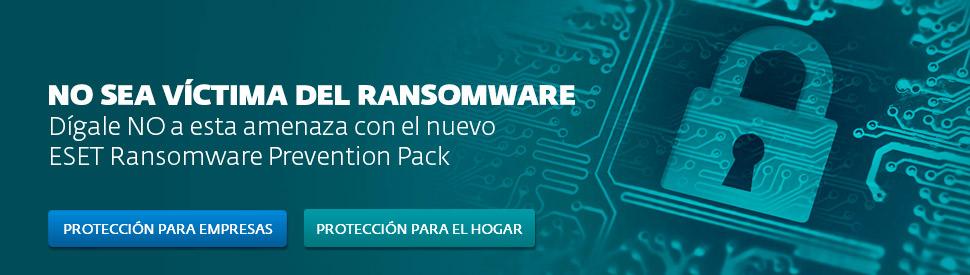 ESET lo protege contra los ataques de ransomware