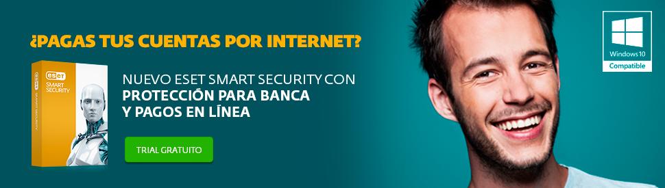 �Prueba gratis ESET Smart Security Versi�n 9 con protecci�n para banca y pagos en linea.