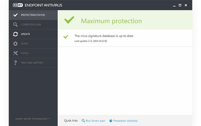 ESET Endpoint Antivirus: Estado de protección