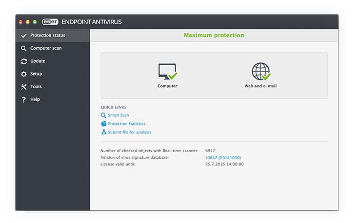 ESET Endpoint Antivirus para OS X: Estado de protección