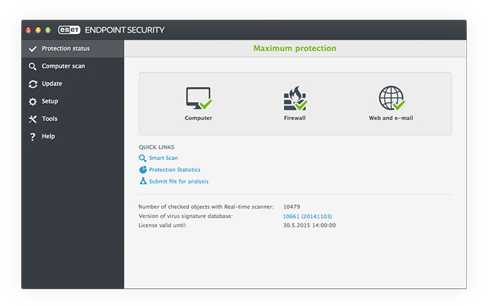 ESET Endpoint Security para OS X: Estado de protección