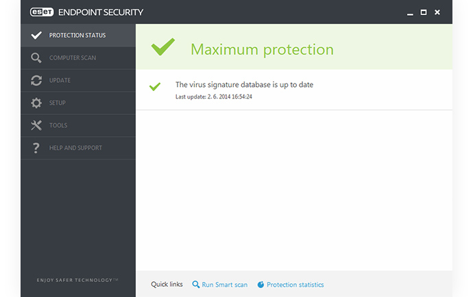ESET Endpoint Security: Estado de protección