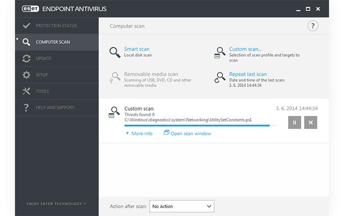 ESET Endpoint Antivirus: Exploración del equipo