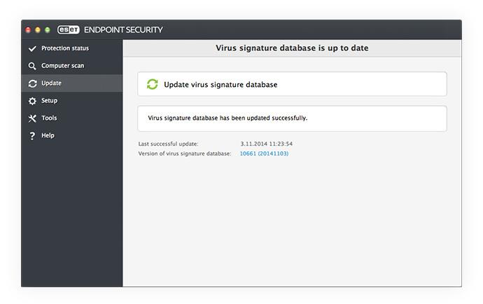 ESET Endpoint Security para OS X: Actualización