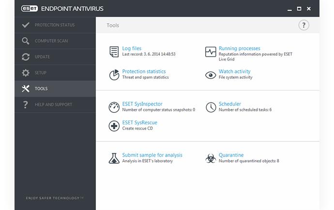 ESET Endpoint Antivirus - Tools