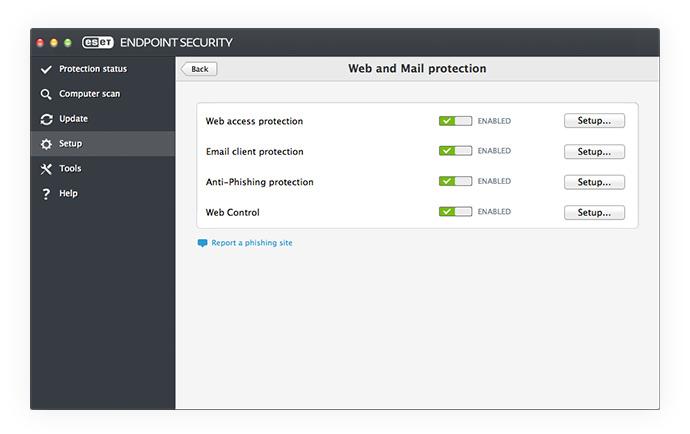 ESET Endpoint Security para OS X: Configuración