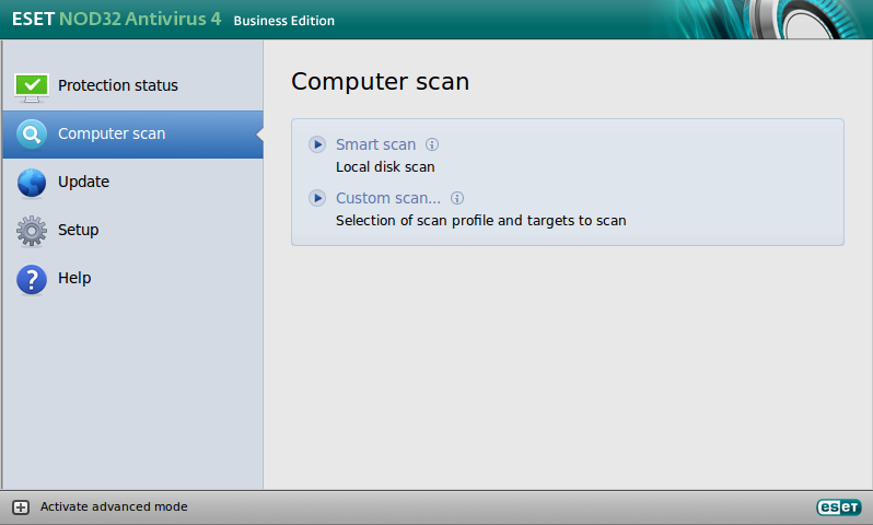 ESET NOD32 Antivirus Business Edition para Linux Desktop - Exploración del equipo