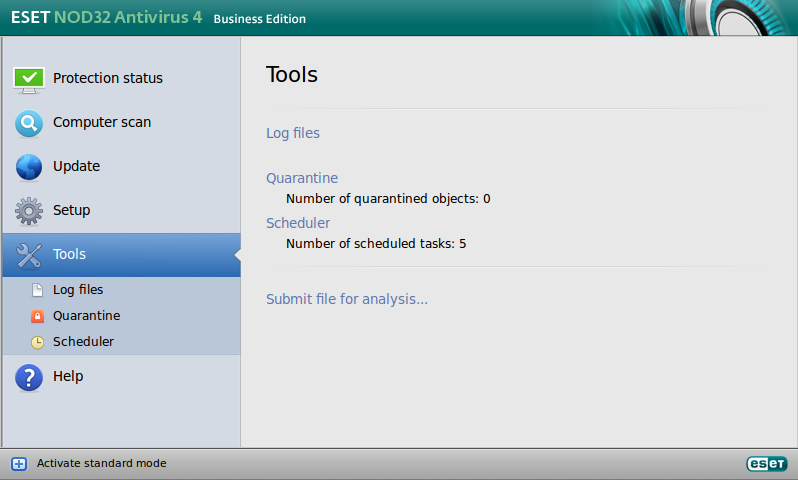 ESET NOD32 Antivirus Business Edition para Linux Desktop - Herramientas