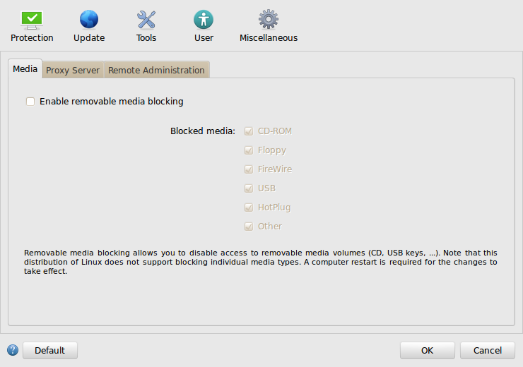 ESET NOD32 Antivirus Business Edition para Linux Desktop - Configuración