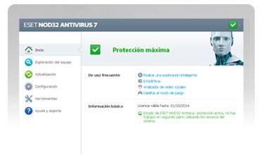 ESET NOD32 Antivirus. Proteja su PC e información con la reconocida solución de ESET.
