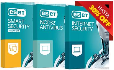 ESET INTERNET SECURITY, ESET NOD32, ESET SMART SECURITY PREMIUM HASTA UN 30%